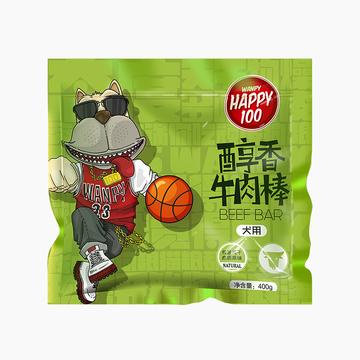 顽皮Wanpy happy100醇香牛肉棒400g 狗零食(新老包装随机发货) 小图 (0)