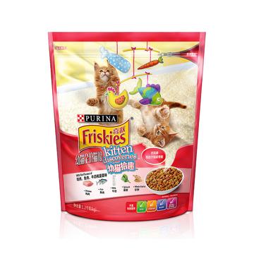 喜跃 幼猫粮鸡肉鱼肉牛奶和菠菜味全价猫粮1.2kg 小图 (0)