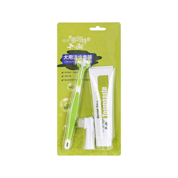 怡亲多可特 犬用洁齿牙膏牙刷套装100g 小图 (0)