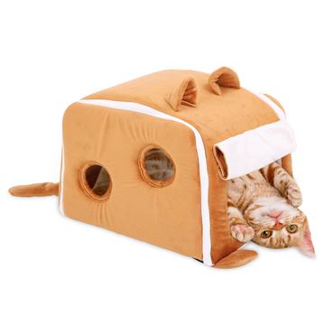 怡亲多可特 可爱竖耳朵猫窝猫房子 小图 (0)