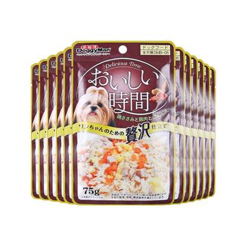 日本多格漫Doggyman 犬用脂肪鸡肉猪肉湿粮75g*12包 狗湿粮训练奖励零食罐头 小图 (0)