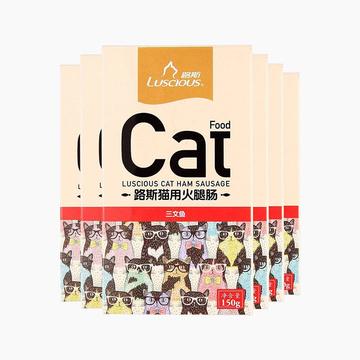 路斯 三文鱼火腿肠 150g*6盒 美毛亮毛猫零食 小图 (0)