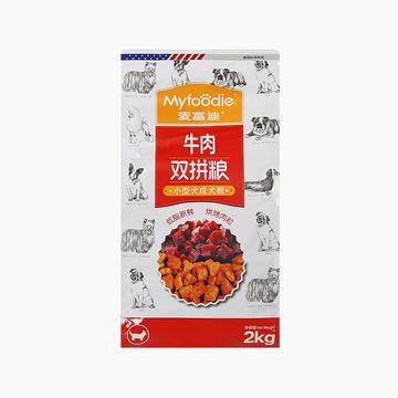 麦富迪牛肉双拼粮小型犬成犬粮2kg 小图 (0)