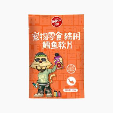 顽皮Wanpy 鳕鱼软片奖励猫零食 25g 小图 (0)
