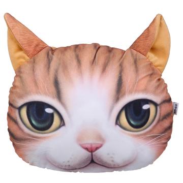 猫范 3d印花喵星人抱枕 创意靠枕 小图 (0)