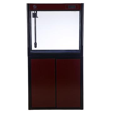 聚宝源直角龙鱼缸JS-800上滤-80cm酒红(缸+柜子) 小图 (0)