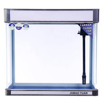 聚宝源无边框直弯龙鱼缸YS-800上滤-80cm白色单缸 小图 (0)