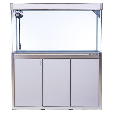 聚宝源无边框直弯龙鱼缸上滤-1.2m白色(缸+柜子) 小图 (0)