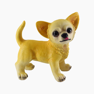 多拉乐 树脂仿真狗吉娃娃模型 装饰摆件 小图 (0)