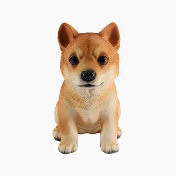 多拉乐 树脂仿真狗柴犬模型 装饰摆件 小图 (0)