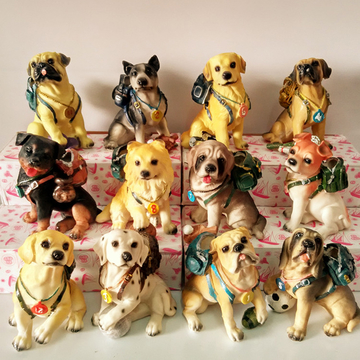 多拉乐 创意树脂小狗摆件仿真狗模型儿 装饰摆件 小图 (0)