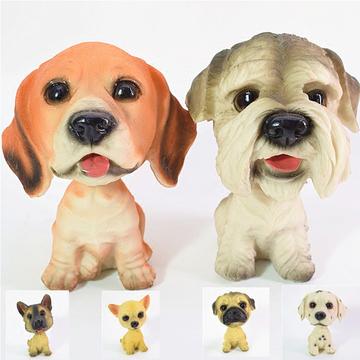 多拉乐 创意树脂仿真狗摆件摇头狗 装饰摆件 小图 (0)
