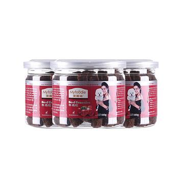 麦富迪 奢华营养塑罐装牛肉粒180g*3 训练 奖励 狗零食 小图 (0)