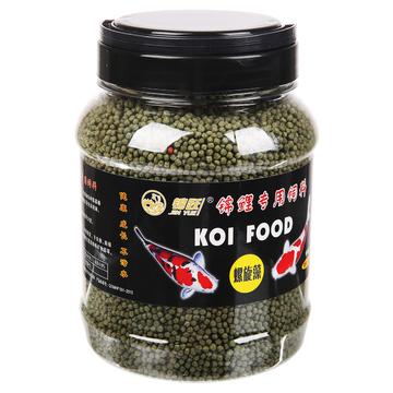 锦跃锦鲤饲料螺旋藻500克中粒瓶装 小图 (0)