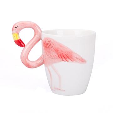JOYYE创意粉色火烈鸟陶瓷水杯 小图 (0)