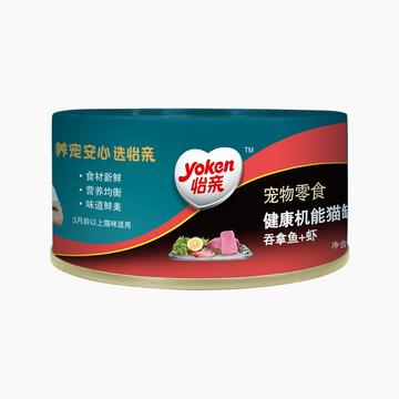 怡亲Yoken 吞拿鱼虾健康机能猫罐头 170g 小图 (0)