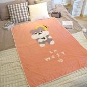 La west 法兰绒毯毛毯午睡毯空调毯儿童卡通 雪纳瑞狗毯子