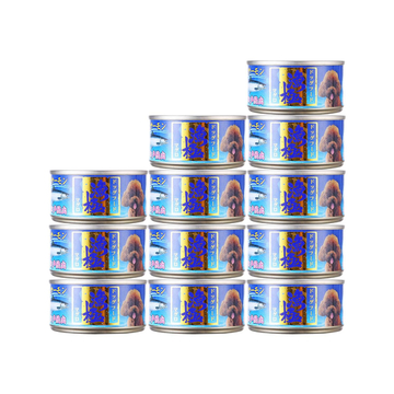 渔极 金枪鱼及三文鱼块狗罐头80g*12罐 DY82 狗湿粮 小图 (0)