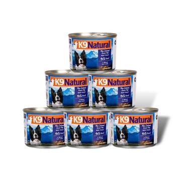 K9Natural 天然无谷牛肉狗罐头170g*6罐 狗湿粮 小图 (0)