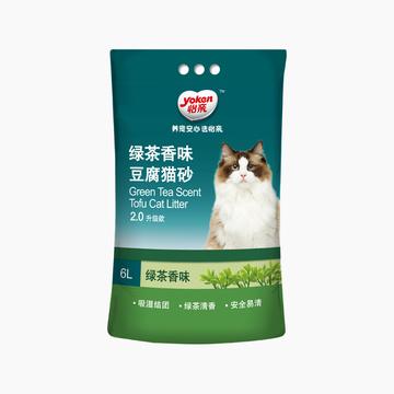 怡亲Yoken 绿茶豆腐猫砂6L 2.0升级款 小图 (0)