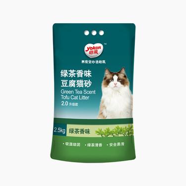 怡亲Yoken 绿茶豆腐奇米影视盒砂 2.5kg 无粉尘 结团紧实