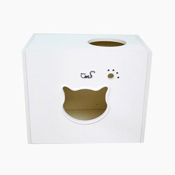 CatS 实木制猫床猫跳台F2白浮雕款 多款式可选 小图 (0)