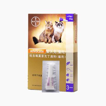 爱沃克 4-8kg猫用驱虫滴剂M 单支装 小图 (0)