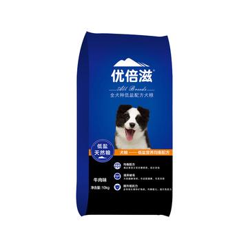 优倍滋 牛肉味全犬种全期犬粮 10kg 滋养被毛 小图 (0)