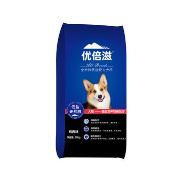 优倍滋 鸡肉味全犬种全期犬粮 10kg 滋养被毛 小图 (0)