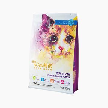 朗诺 冻干三文鱼肉粒奖励猫零食 300g 高蛋白富含DHA 小图 (0)