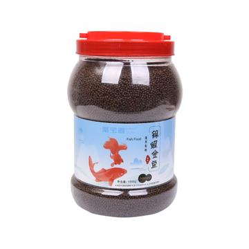 聚宝源 锦鲤金鱼通用鱼粮育成2mm颗粒 1000g 小图 (0)