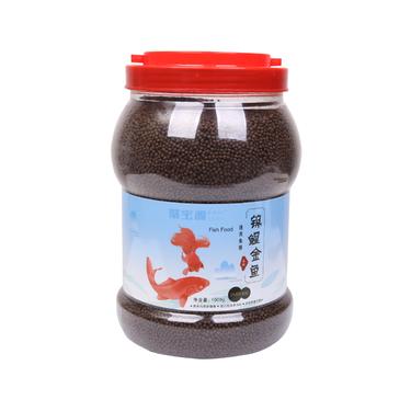 聚宝源 锦鲤金鱼通用鱼粮育成2mm颗粒 1000g