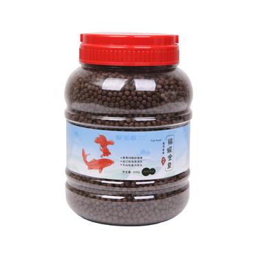 聚宝源 锦鲤金鱼通用鱼粮育成4mm颗粒 1000g
