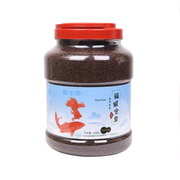 聚宝源 锦鲤金鱼通用鱼粮育成2mm颗粒 1500g 小图 (0)