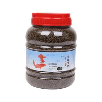 聚宝源 锦鲤金鱼通用鱼粮色扬2mm颗粒 500g 小图 (0)