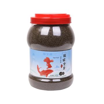 聚宝源 锦鲤金鱼通用鱼粮色扬2mm颗粒 1000g 小图 (0)