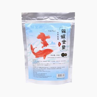 聚寶源 錦鯉金魚通用魚糧育成2mm顆粒 150g