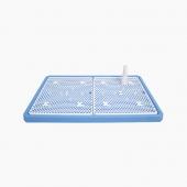 怡亲 平板网络式 狗厕所便盆 贵宾泰迪狗厕所 带垫板 升级款蓝色-S