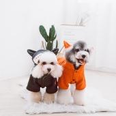 它它Touchdog 新款寵物衣服狐貍裝可愛狗衣服泰迪雪納瑞冬季厚衣服