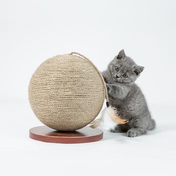 ZEZE 地球仪式猫抓球 含趣味配件   装饰、磨爪一步到位 小图 (0)