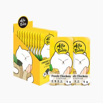 阿飞和巴弟 海苔煮鸡胸肉犬猫通用零食 400g 小图 (0)