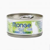 夢吉Monge 果凍系列黃鰭金槍魚魚糜貓罐頭 80g 泰國原裝進口