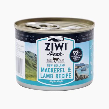 滋益巅峰Ziwi peak 无谷马鲛鱼羊肉主食猫罐头185g 92%肉含量 新西兰进口