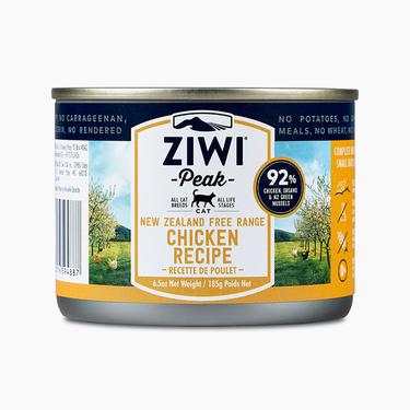 滋益巅峰Ziwi peak 无谷鸡肉主食猫罐头185g 92%肉含量 新西兰进口