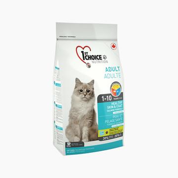 益之选1st Choice 三文鱼美毛配方成猫粮 0.35kg 加拿大进口 小图 (0)