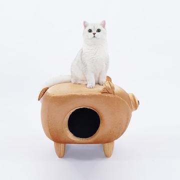 ZEZE 金猪凳子猫咪屋  人宠两用宠物窝 小图 (0)