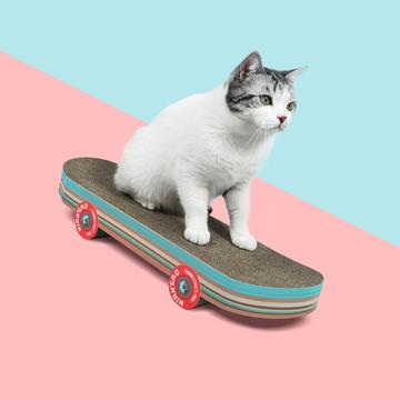 年糕NIANGAO 创意滑板猫抓板  完美身材比例 小图 (0)