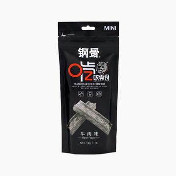 钢骨 H型啃咬 迷你牛肉 清洁牙齿 16支装 224g 狗零食 小图 (0)