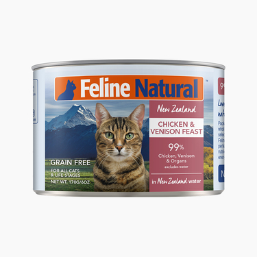 Feline Natural 天然无谷鸡肉鹿肉猫罐头 170g 新西兰进口