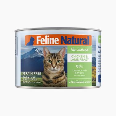 Feline Natural 天然无谷鸡肉羊心猫罐头 170g 新西兰进口
